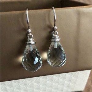 Jewelry - Sterling silver, Prasiolite earrings